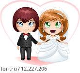 Купить «Bride And Groom Getting Married 2», иллюстрация № 12227206 (c) PantherMedia / Фотобанк Лори