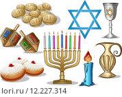 Купить «Hanukkah Symbols Pack», иллюстрация № 12227314 (c) PantherMedia / Фотобанк Лори