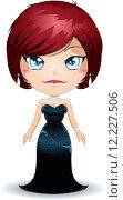 Купить «Woman Wearing Black Evening Dress», иллюстрация № 12227506 (c) PantherMedia / Фотобанк Лори