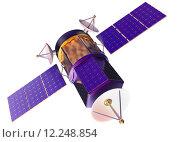 Купить «3D model of an artificial satellite of the Earth», фото № 12248854, снято 23 сентября 2018 г. (c) PantherMedia / Фотобанк Лори