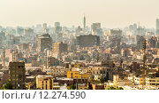 Купить «Aerial view of Cairo», фото № 12274590, снято 15 ноября 2019 г. (c) PantherMedia / Фотобанк Лори