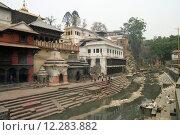 Купить «Pashupatinath in Kathmandu, Nepal», фото № 12283882, снято 21 октября 2018 г. (c) PantherMedia / Фотобанк Лори