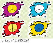 Купить «Set of Peace Symbols», иллюстрация № 12285294 (c) PantherMedia / Фотобанк Лори