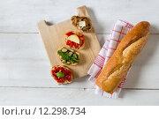 Купить «tomato beans mushrooms parmesan pesto», фото № 12298734, снято 22 мая 2019 г. (c) PantherMedia / Фотобанк Лори