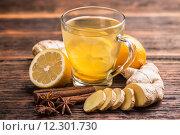 Купить «Ginger tea», фото № 12301730, снято 21 ноября 2018 г. (c) PantherMedia / Фотобанк Лори