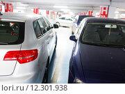 Купить «Underground parking/garage (shallow DOF; color toned image)», фото № 12301938, снято 18 февраля 2019 г. (c) PantherMedia / Фотобанк Лори