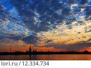 Купить «A beautiful sunrise over the Neva River, Saint-Petersburg, Russia», фото № 12334734, снято 26 июня 2019 г. (c) PantherMedia / Фотобанк Лори