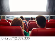 Купить «happy couple watching movie in theater or cinema», фото № 12359330, снято 19 января 2015 г. (c) Syda Productions / Фотобанк Лори
