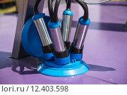 Купить «Automatic mechanized milking equipment for farm industry», фото № 12403598, снято 26 мая 2020 г. (c) PantherMedia / Фотобанк Лори