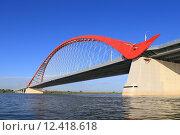 Купить «Бугринский мост через реку Обь в городе Новосибирске», фото № 12418618, снято 31 июля 2015 г. (c) Григорий Писоцкий / Фотобанк Лори