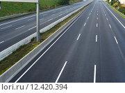 Купить «empty highway infrastructure motorway void», фото № 12420394, снято 24 августа 2019 г. (c) PantherMedia / Фотобанк Лори