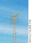 Купить «Metal tower of Power Lines», фото № 12425114, снято 24 августа 2019 г. (c) PantherMedia / Фотобанк Лори