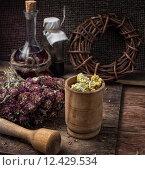 Купить «medicinal herb», фото № 12429534, снято 19 сентября 2019 г. (c) PantherMedia / Фотобанк Лори