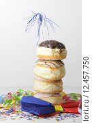 Купить «cute hat tower balance pastry», фото № 12457750, снято 23 мая 2019 г. (c) PantherMedia / Фотобанк Лори
