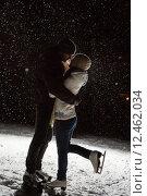 Купить «Beautiful, attractive couple on the ice rink», фото № 12462034, снято 4 июня 2020 г. (c) PantherMedia / Фотобанк Лори