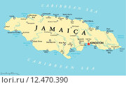 Купить «Jamaica Political Map», иллюстрация № 12470390 (c) PantherMedia / Фотобанк Лори
