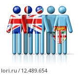 Купить «Flag of Fiji on stick figure», иллюстрация № 12489654 (c) PantherMedia / Фотобанк Лори