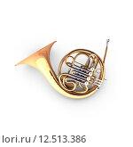 Купить «3D french horn (cor)», фото № 12513386, снято 20 июля 2018 г. (c) PantherMedia / Фотобанк Лори