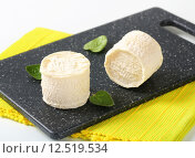 Купить «Crottins de Chevre cheese», фото № 12519534, снято 22 мая 2019 г. (c) PantherMedia / Фотобанк Лори