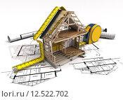 Купить «Construction structure», фото № 12522702, снято 20 февраля 2019 г. (c) PantherMedia / Фотобанк Лори