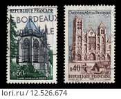 Купить «French Postage Stamps», фото № 12526674, снято 19 июля 2019 г. (c) PantherMedia / Фотобанк Лори