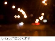 Купить «blurred night street  background with boke», фото № 12537318, снято 19 октября 2018 г. (c) PantherMedia / Фотобанк Лори