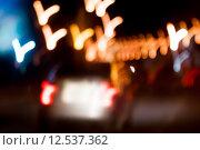 Купить «blurred night street  background with boke», фото № 12537362, снято 23 июля 2018 г. (c) PantherMedia / Фотобанк Лори