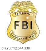 Купить «FBI Badge», иллюстрация № 12544338 (c) PantherMedia / Фотобанк Лори