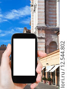 Купить «tourist photographs of Cathedral in Ferrara», фото № 12544802, снято 23 июля 2019 г. (c) PantherMedia / Фотобанк Лори