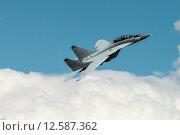 Купить «МиГ-35 - многофункциональный фронтовой истребитель. Международный авиационно-космический салон МАКС-2015», эксклюзивное фото № 12587362, снято 29 августа 2015 г. (c) Алексей Бок / Фотобанк Лори