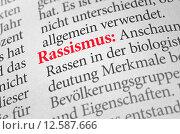 Купить «dictionary with the term racism», фото № 12587666, снято 27 июня 2019 г. (c) PantherMedia / Фотобанк Лори