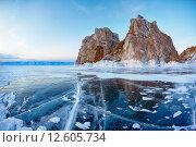 Купить «Shamanka mount on Baikal lake», фото № 12605734, снято 13 марта 2013 г. (c) Serg Zastavkin / Фотобанк Лори