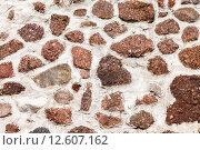 Купить «Грубая каменная стена из природного камня  в качестве фона», фото № 12607162, снято 17 октября 2018 г. (c) FotograFF / Фотобанк Лори