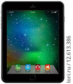 Купить «photo realistic Tablet Similar To iPad style isolated on white», иллюстрация № 12613386 (c) PantherMedia / Фотобанк Лори