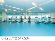 Modern gym with various sports equipment. Стоковое фото, фотограф Elnur / Фотобанк Лори