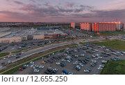 На закате в Химках (2015 год). Редакционное фото, фотограф Константин Ламин / Фотобанк Лори