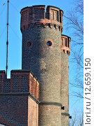 Купить «Фридрихсбургские ворота - старинный немецкий форт Кёнигсберга. Калининград (до 1946 года Кёнигсберг), Россия», фото № 12659150, снято 28 марта 2015 г. (c) Сергей Трофименко / Фотобанк Лори