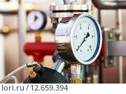 Купить «Heating system boiler room equipments», фото № 12659394, снято 6 апреля 2012 г. (c) Дмитрий Калиновский / Фотобанк Лори