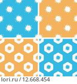 Burst pattern set, colored. Стоковая иллюстрация, иллюстратор Иван Рябоконь / Фотобанк Лори