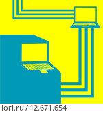 Цифровое оборудование. Стоковая иллюстрация, иллюстратор Евгений Бакал / Фотобанк Лори