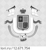 Эмблема общества. Стоковая иллюстрация, иллюстратор Евгений Бакал / Фотобанк Лори