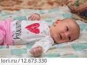Купить «Гормональная сыпь у новорожденного», фото № 12673330, снято 14 января 2015 г. (c) Анастасия Улитко / Фотобанк Лори
