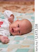 Купить «Гормональная сыпь у новорожденного», фото № 12673338, снято 14 января 2015 г. (c) Анастасия Улитко / Фотобанк Лори