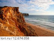 Побережье Алгарве в Португалии (2012 год). Стоковое фото, фотограф Oksana Oleneva / Фотобанк Лори
