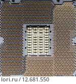 Купить «Разъем для процессора», фото № 12681550, снято 16 января 2019 г. (c) Mikhail Starodubov / Фотобанк Лори