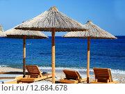 Купить «Mediterranean beach during hot summer day», фото № 12684678, снято 25 июня 2019 г. (c) PantherMedia / Фотобанк Лори