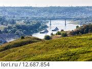 Купить «Вид на реку Оку с холма бывшей Алексинской крепости.», эксклюзивное фото № 12687854, снято 26 июля 2015 г. (c) Сергей Лаврентьев / Фотобанк Лори