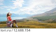 Купить «Hitch hiking traveling», фото № 12688154, снято 24 марта 2014 г. (c) Sergey Nivens / Фотобанк Лори