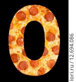 Купить «Пицца в виде букв латинского алфавита», фото № 12694086, снято 9 сентября 2010 г. (c) Александр Подшивалов / Фотобанк Лори