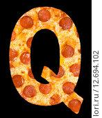 Купить «Пицца в виде букв латинского алфавита», фото № 12694102, снято 9 сентября 2010 г. (c) Александр Подшивалов / Фотобанк Лори